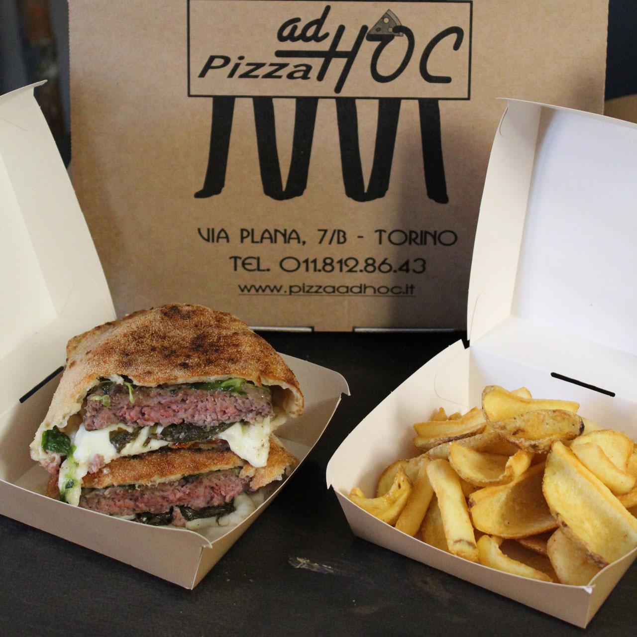 Pizza Ad Hoc Ciapalon pizza burger