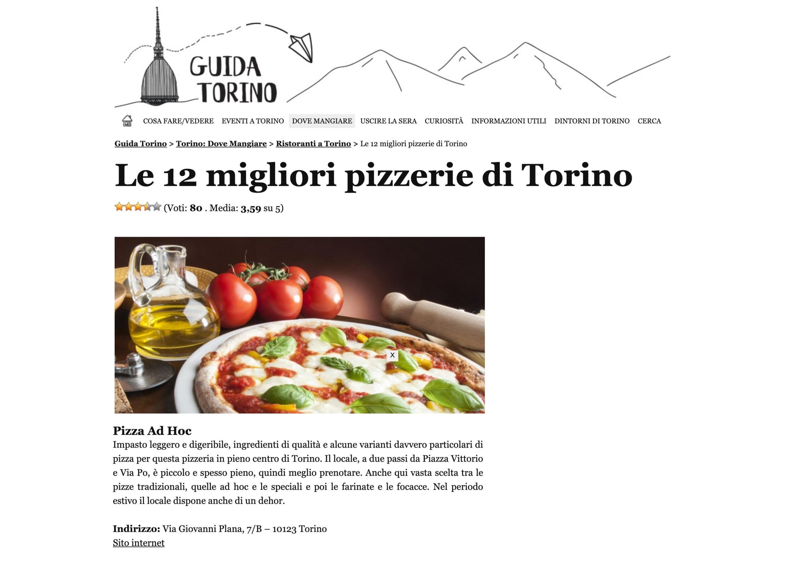 Guida Torino: migliori pizzerie Torino