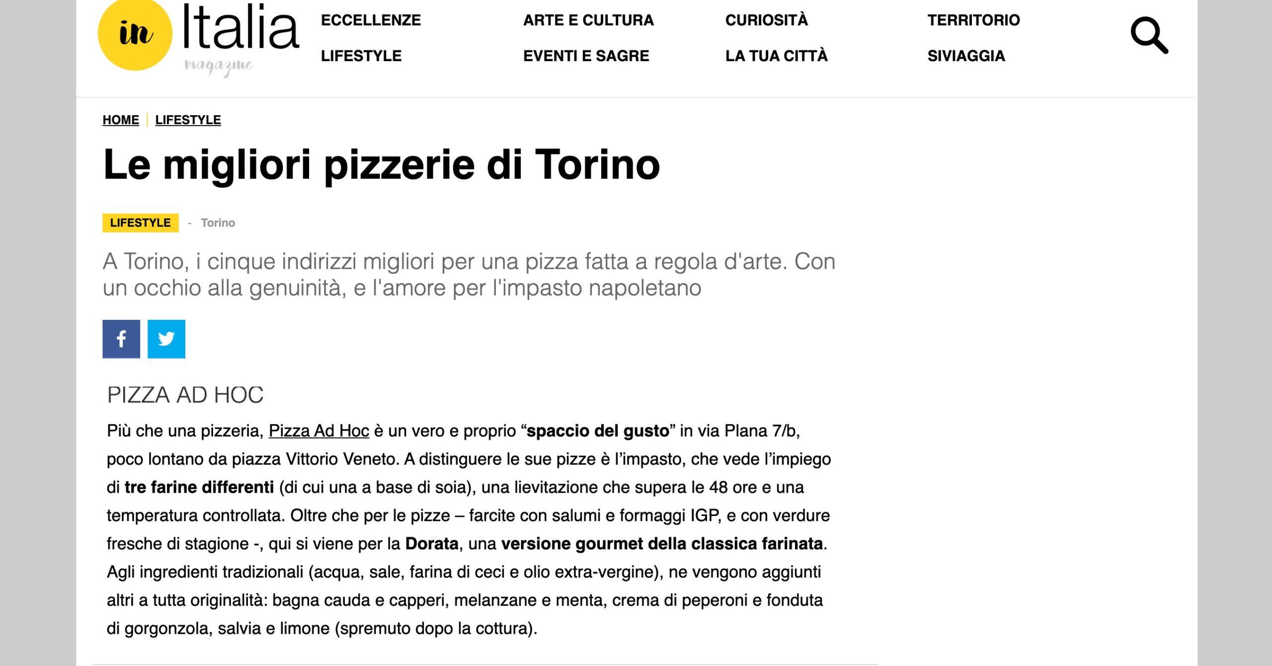 inItalia, le migliori pizzerie di Torino