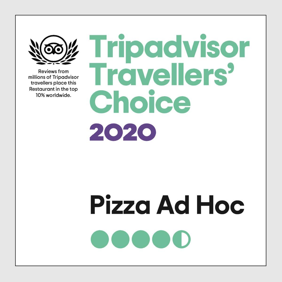 Tripadvisor Traveller's Choice 2020 - Pizza Ad Hoc Torino